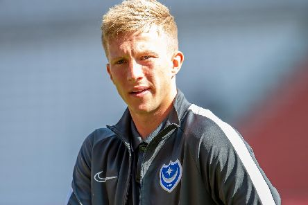 Ross McCrorie (#15) of Portsmouth FC before the EFL Sky Bet League 1 match between Sunderland and Portsmouth at the Stadium Of Light, Sunderland, England on 17 August 2019.