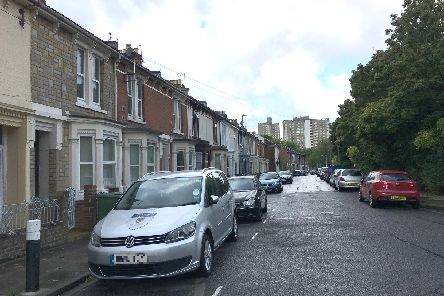 Bradford Road in Southsea which has 44 per cent HMOs.  Picture: Fiona Callingham
