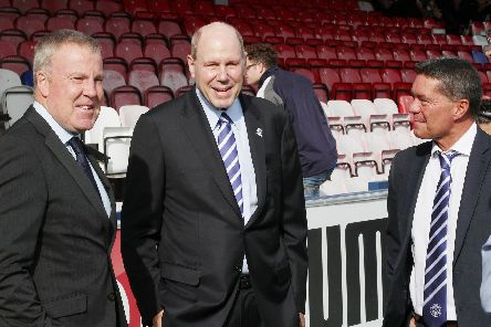 From left to right: Kenny Jackett, Michael Eisner and Mark Catlin. Picture: Joe Pepler