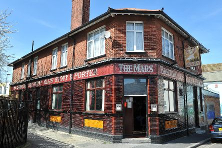 The stabbing took place outside the pub