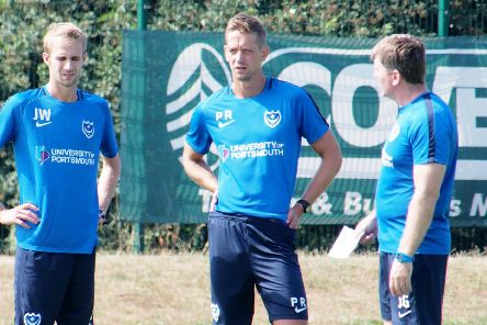 Paul Robinson, centre, departed Pompey earlier this summer. Picture: Habibur Rahman