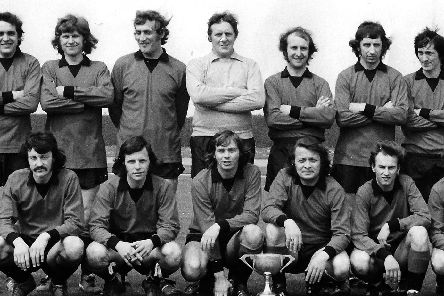 Champions of the Portsmouth Premier League 1974/75 season were McMurdo. Here we see the team. Photo  Colin Greetham