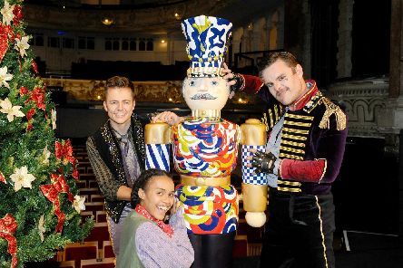 (l-r) Samuel Bailey as Ivanov, Hollie Smith-Nelson as Petipa and Neil Jennings as the Mouse King. Picture: Sarah Standing (090919-5274)