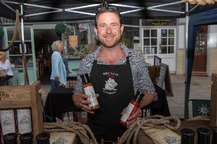 The Summer Fayre held at Castle Road in Southsea - Liam Coleman with his homemade Spice Island Chilli stall.  Picture: Vernon Nash (180410-002)