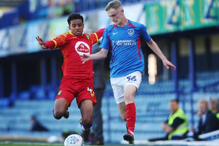 Academy player Eoin Teggart shone on his first-team debut against Norwich under-21s on Saturday. Picture: Joe Pepler