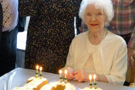 Barbara Harman at her birthday party.
