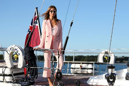Millie Mackintosh opens the Southampton Boat Show, which runs until September 24th at Mayflower Park, Southampton. Picture: Andrew Matthews/PA Wire