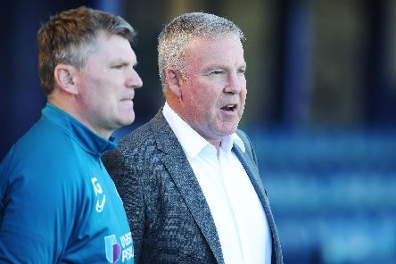 Kenny Jackett's Pompey head to Wycombe on Saturday with just six points from six games. Picture: Joe Pepler