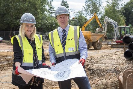 From left, Claire Ellam, development project manager for Care UK, and Steve Perkins, contracts manager at Brymor. Picture: WPR