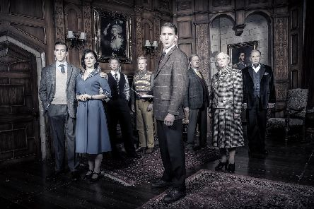 The cast of The Mousetrap, with Susan Penhaligon second on the right. Picture by Johan Persson