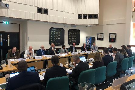 Councillors listen to resident's voicing their concerns about a planning application for 6,000 homes to be built over 25 years.