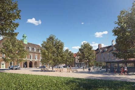 The new garden village will feature a hotel and a local pub.