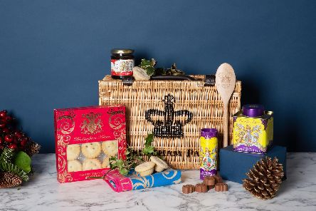 A luxury Christmas hamper being sold by Buckingham Palace. Picture: Royal Collection Trust/ Her Majesty Queen Elizabeth II 2019/PA Wire