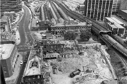 The site of the former Post Office in Commercial Road. To the rear was the sorting office.  Picture: Mick Cooper collection.