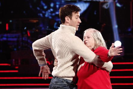 Ann Widdecombe and Anton du Beke at Blackpool's Tower Ballroom for Strictly Come Dancing. Picture credit should read: Peter Byrne/PA Photos.