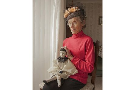 Photographer Nina Borowsky has put together an exhibition called Girls and Dolls to draw attention to lonely older people. This photo is called 'Patrisha'. Photo by Nina Borowsky
