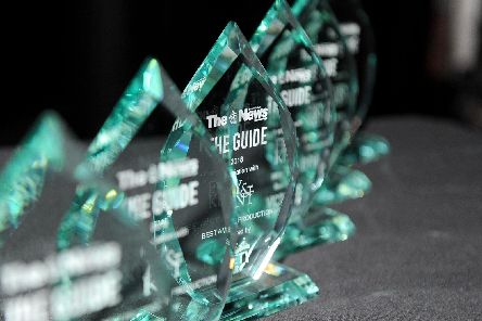 The Guide Awards trophies