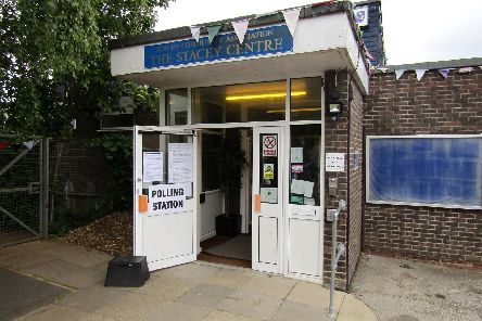 A polling station in Portsmouth