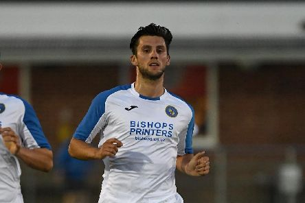 Dan Strugnell in action for Havant & Waterlooville. Picture: Neil Marshall (180704-0)