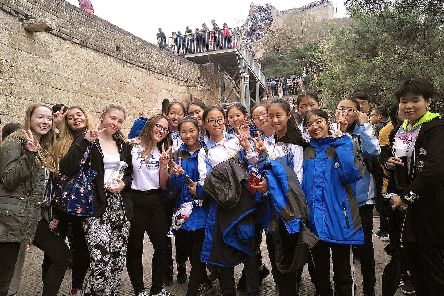 Portsmouth College students enjoyed a trip to Beijing, China