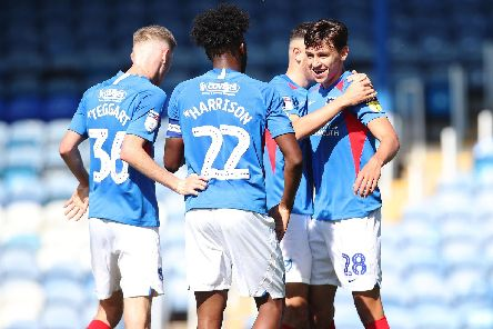Josh Flint scored against Norwich under-21s on his Pompey debut, but is now leaving the club. Picture: Joe Pepler