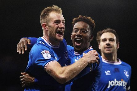 Matt Clarke and Jamal Lowe are currently finding little to cheer about in the Championship after leaving Pompey this summer. Picture: Joe Pepler