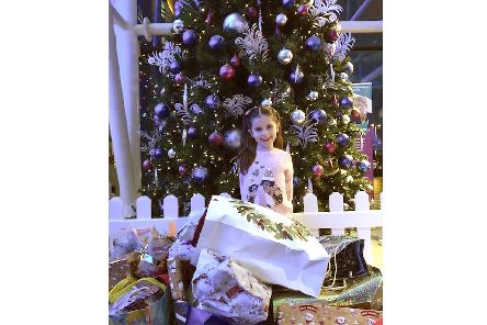 Imogen Pike, six, delivered more than 100 presents for patients at QA Hospital after starting an appeal through her parents' business Northney Farm Tea Rooms