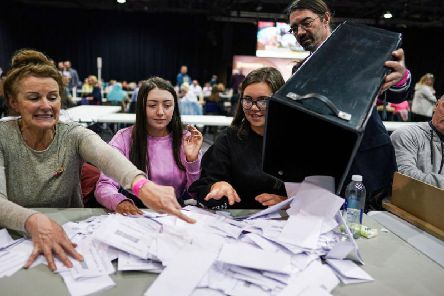 Turnout was down across the UK compared to the previous election (Getty Images)