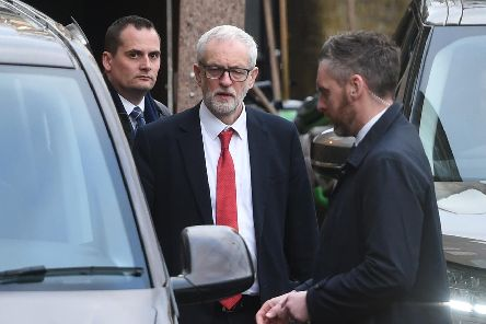 Labour Party leader Jeremy Corbyn leaves following a media interview at Islington Town Hall. Picture: David Mirzoeff/PA Wire