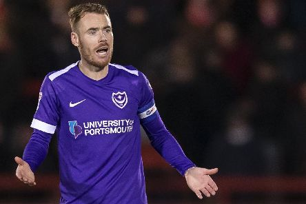 Skipper Tom Naylor was critical of Pompey following today's 4-1 defeat at Accrington. Picture: Daniel Chesterton/phcimages.com
