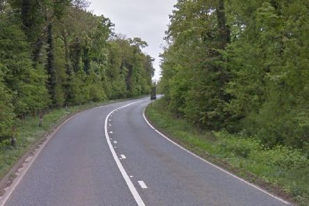 The A361 near Ashby St Ledgers, close to the site of the crash