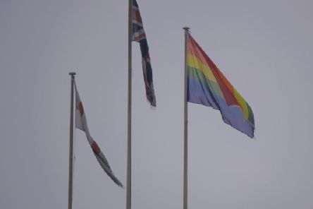 Rugby Borough Council flew the rainbow Pride flag for the first time in February to mark LGBT History Month.