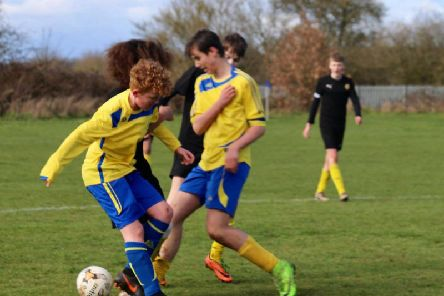 Brinklow's Harrison Berrey and Harry Shorten winning the midfield