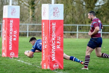 Will Headley goes over for a try for Saints on Saturday