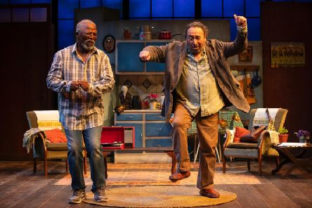 John Kani as Lunga Kunene and Antony Sher as Jack Morris. Picture: Ellie Kurttz
