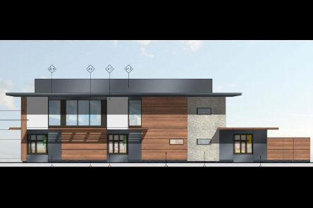 How the building will look as viewed from Evereux Way.