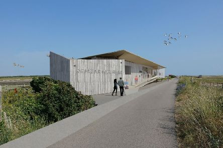 A vision of what the new Rye Harbour Discovery Centre will look like