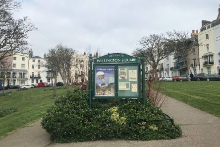 Wellington Square in Hastings town centre