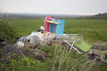 An example of flytipping. Photo: Farmers and Mercantile Insurance Brokers