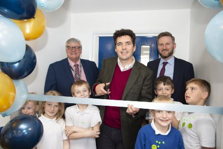 Huw Merriman, MP for Bexhill and Battle, officially opened the school