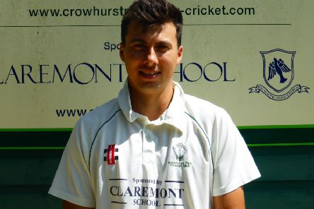Ben Naylor was Crowhurst Park Cricket Club's man of the match against Glynde & Beddingham