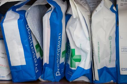 Prescriptions waiting to be colleted (Photo by Matt Cardy/Getty Images)