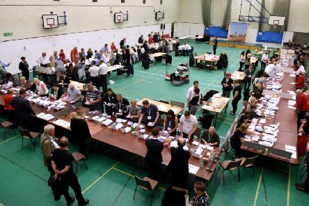 Election count at Horntye Park