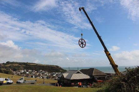 The wheel being removed in September. Picture: Hastings Borough Council