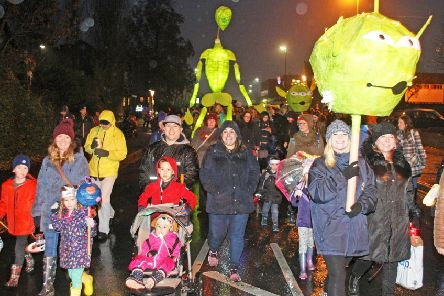 Even aliens descended to join in this year's space-themed parade