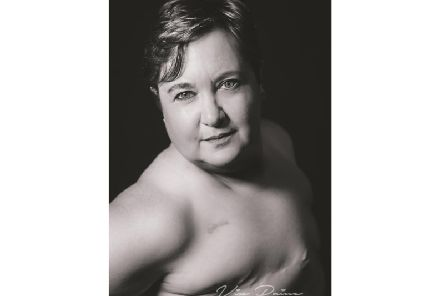 Kate Henwood, who is surviving cancer and has had a double mastectomy, has taken part in the charity fundraising photoshoot. Picture: VP Photography