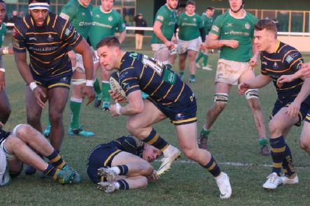 Harry Barlow got a try in Worthing Raiders' defeat at London Irish Wild Geese. Picture: Andy Wales