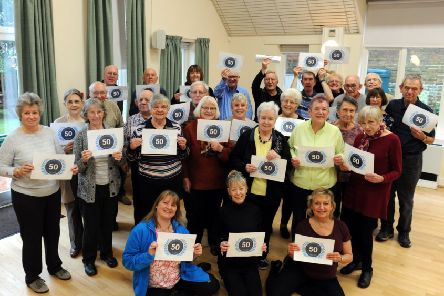 The Worthing and Washington branch of Parkinson's' UK celebrating the charity's 50th anniversary in February. Picture: Kate Shemilt 'ks190055-2
