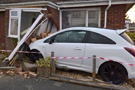 The front of the bungalow was severely damaged following the collision SUS-190526-095414001
