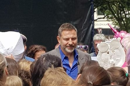David Walliams at Worthing Children's Parade. Pic: Jazzy Fizzle